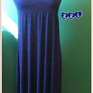 LuLaRoe XXL Blue Maxi Skirt